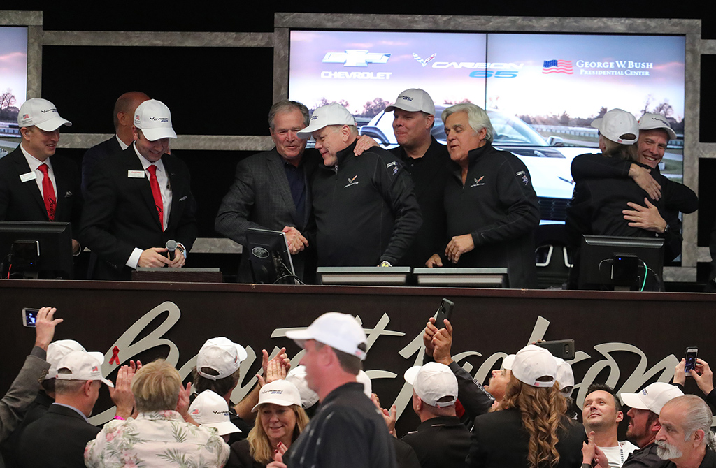 Some of the biggest names in sports, entertainment and politics – such as former U.S. President George W. Bush and Jay Leno (pictured above at the 2018 Scottsdale Auction) – have helped drive the excitement level of the Barrett-Jackson experience.
