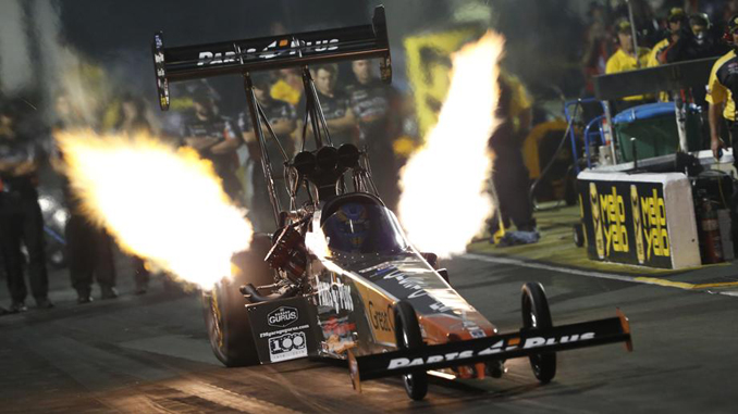 Clay Millican set the Top Fuel track speed record at the NHRA Southern Nationals