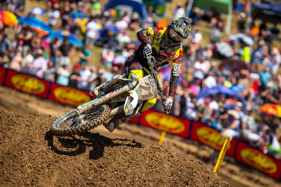 Hangtown - Newly crowned supercross champ Jason Anderson led in each moto and settled for fourth overall