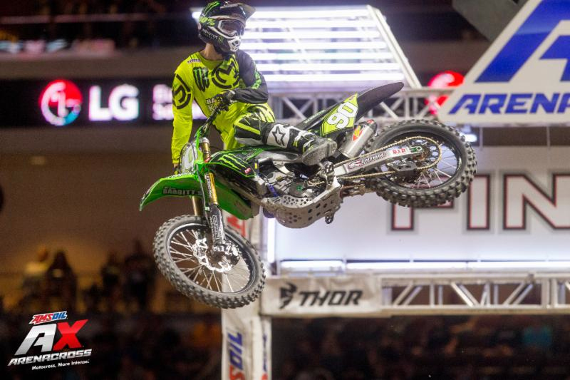 Jacob Hayes captured the 2018 AMSOIL Arenacross Championship