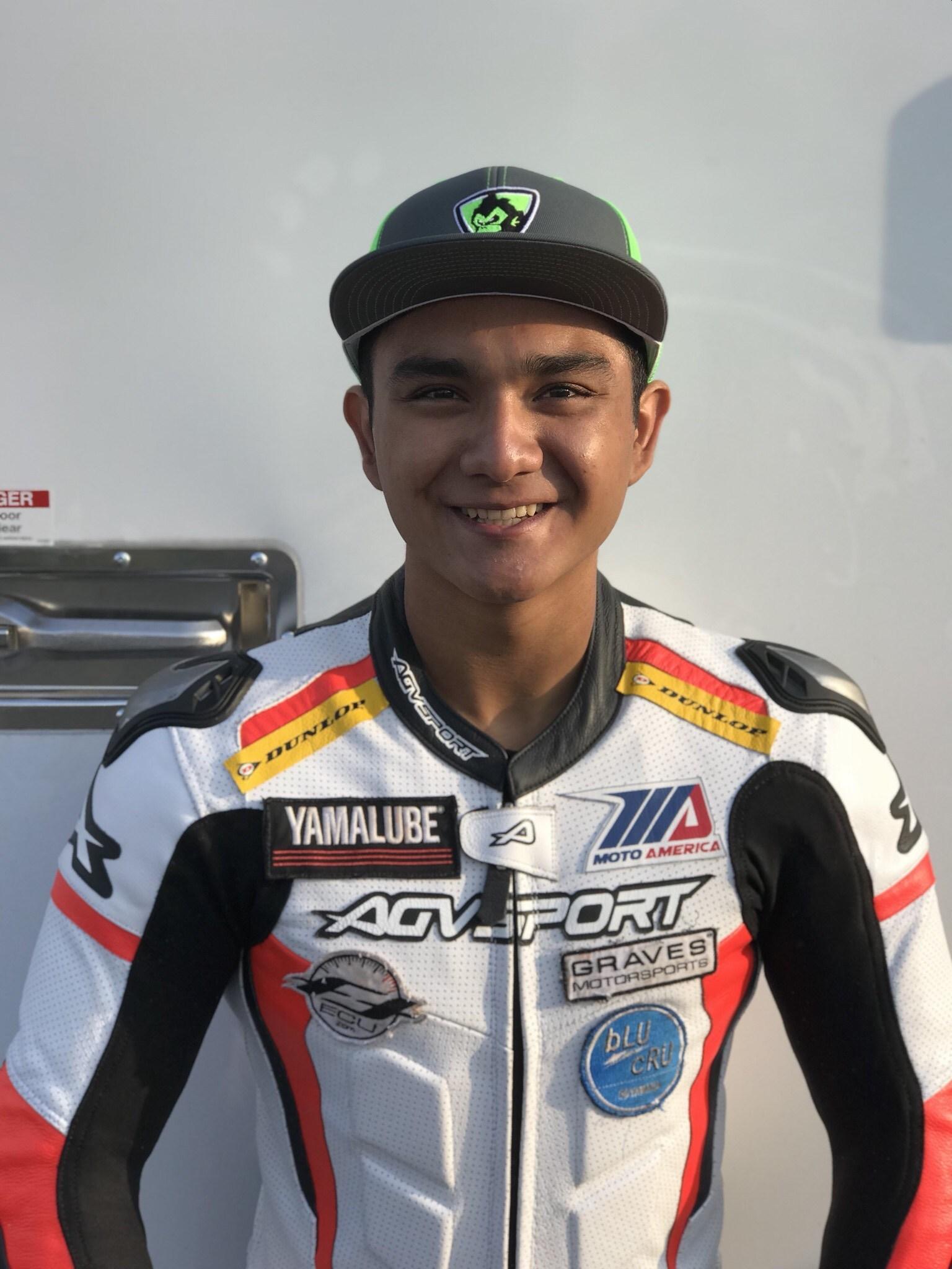 New rider Kevin Olmedo for MonkeyMoto at MotoAmerica race at Virginia International Raceway