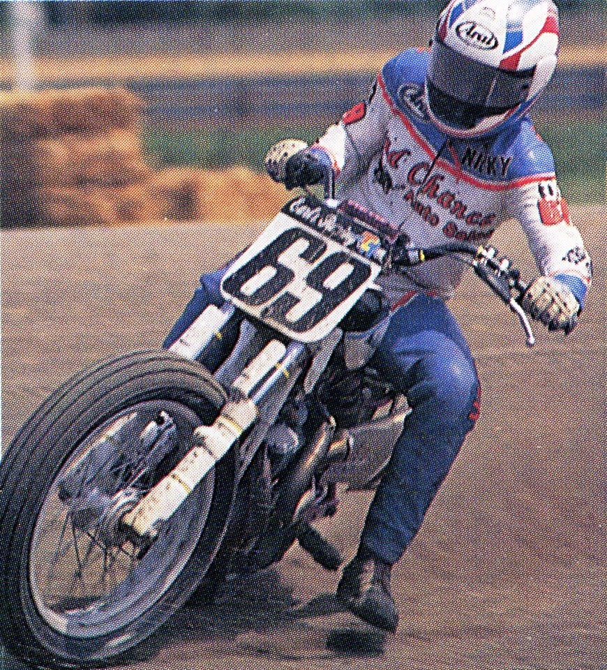 Nicky Hayden Amateur Dirt Track Nicky Hayden from Owensboro, Ky., competing at the 1997 AMA Dirt Track Grand Championship