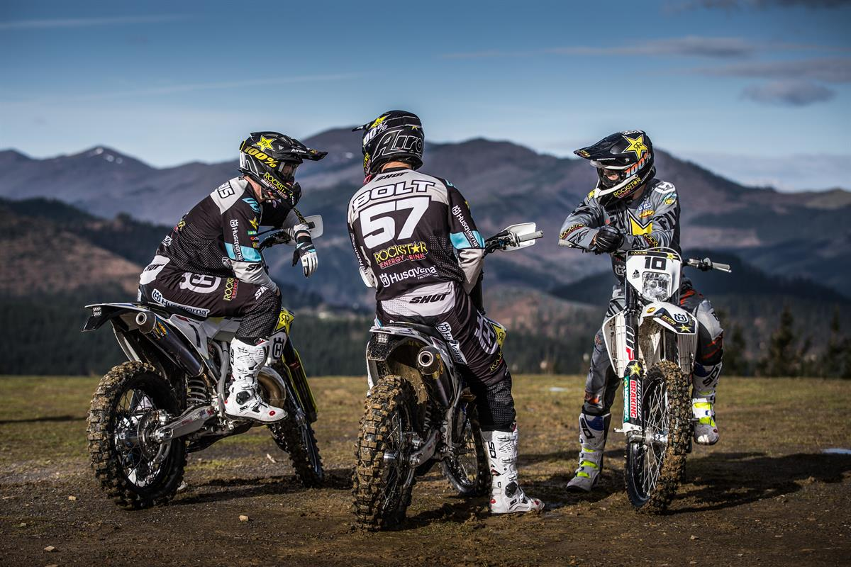 Rockstar Energy Husqvarna Factory Racing - G.Jarvis B.Bolt and C.Haaker - World Enduro Super Series