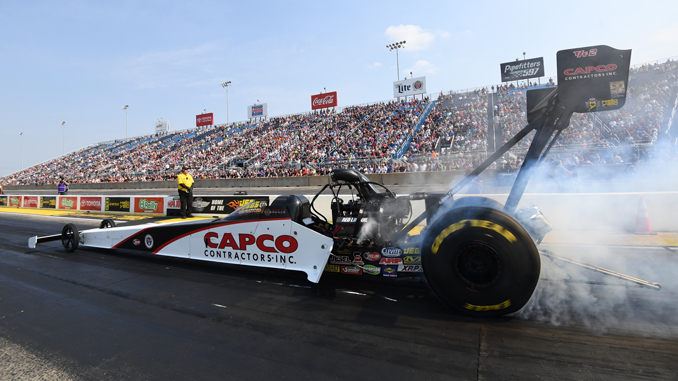 NHRA Top Fuel Steve Torrence No.1 qualifying Saturday Chicago