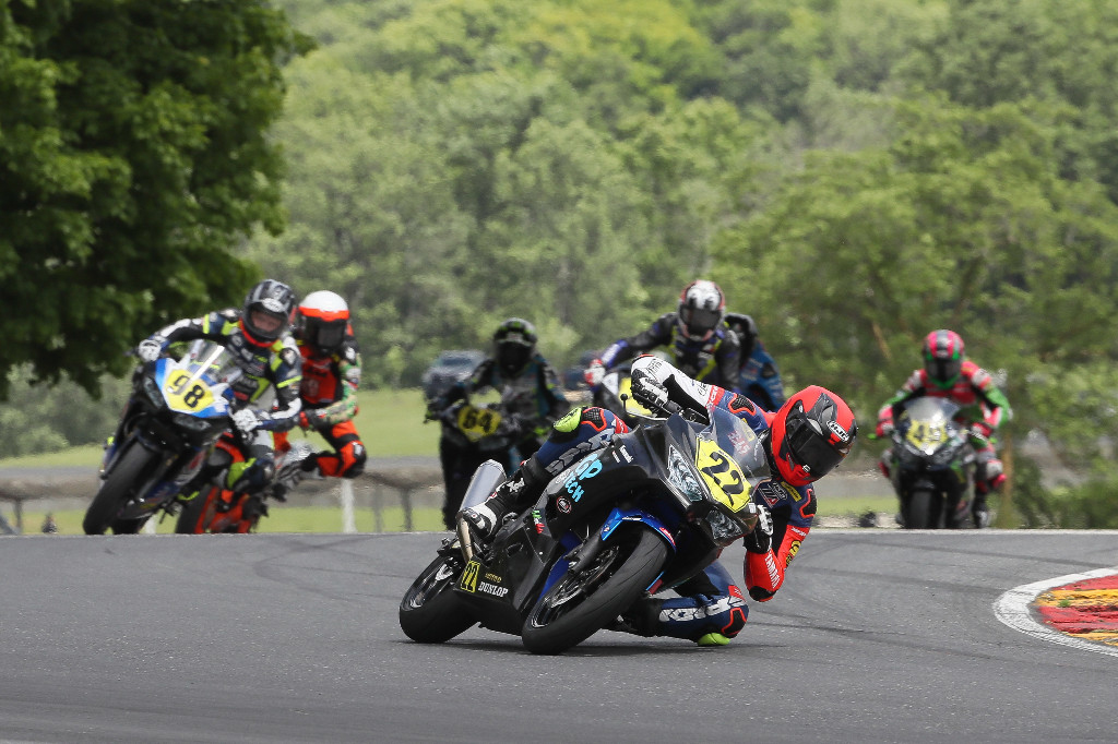 Kawasaki-mounted Ashton Yates completely dominated the Liqui Moly Junior Cup at Road America on Sunday. | Photo by Brian J. Nelson