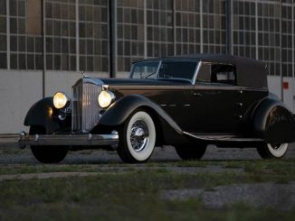 1934 Packard Twelve Individual Custom Convertible Victoria (Credit – Erik Fuller © 2018 Courtesy of RM Sotheby's)