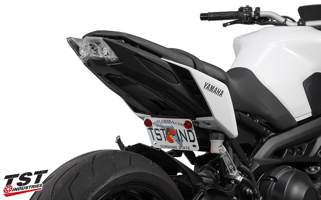 The new TST Industries FZ09 / MT09 Integrated Tail Light brings the Yamaha FZ design language to the tail light.