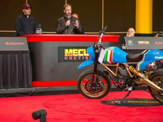 SCRAMBLER MAVERICK MOTORCYCLE GENERATES MASSIVE DONATION FOR SHRINERS HOSPITALS FOR CHILDREN AT MECUM AUCTION