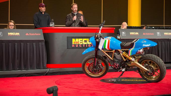 SCRAMBLER MAVERICK MOTORCYCLE GENERATES MASSIVE DONATION FOR SHRINERS HOSPITALS FOR CHILDREN AT MECUM AUCTION