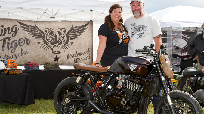 Custom Motorcycle Builders - Teresa and Eric Bess of Flying Tiger Motorcycles