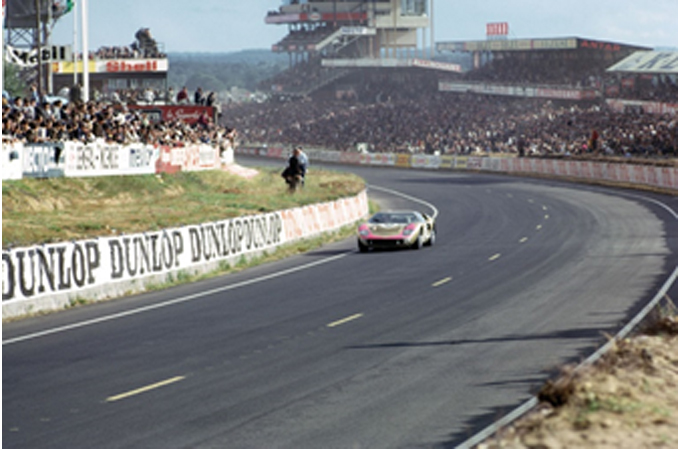 Chassis P/1016 on track at the 1966 24 Hours of Le Mans before claiming 3rd overall - Courtesy of The Klemantaski Collection