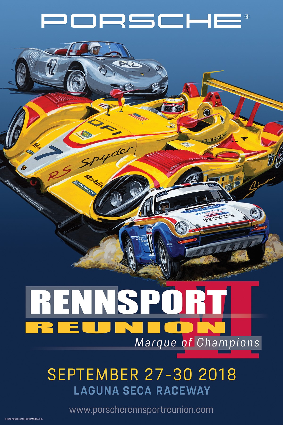 Porsche Unveils Official Poster for Rennsport Reunion VI