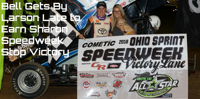 Bell Cometic Gasket Ohio Sprint Speedweek victory at Sharon Speedway