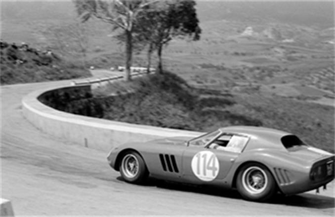 RM Sotheby's - Monterey - Corrado Ferlaino and Luigi Taramazzo drive the 250 GTO at 1964 Targa Florio