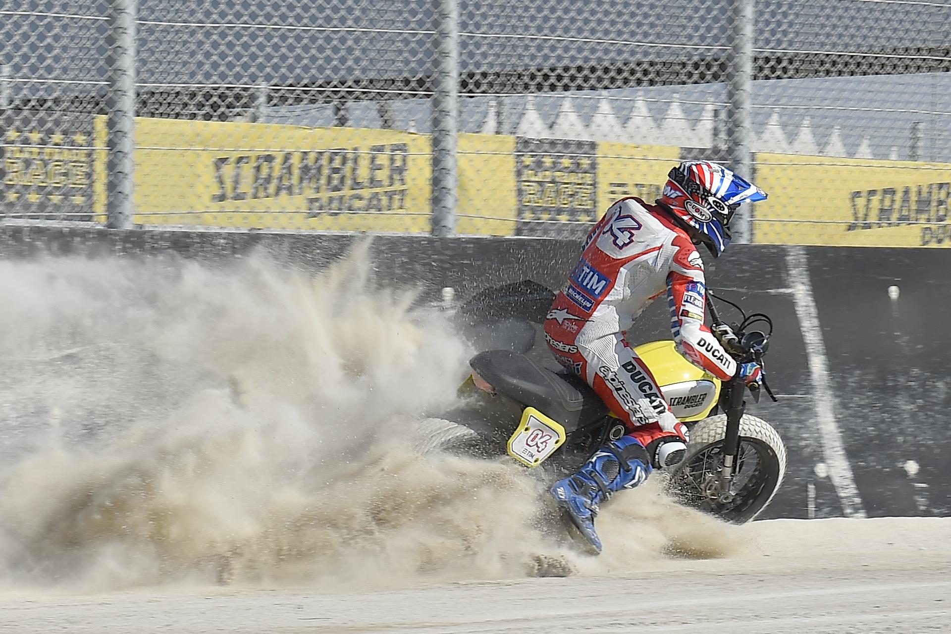 World Ducati Week 2016 Scrambler Flat Track Race Andrea Dovizioso