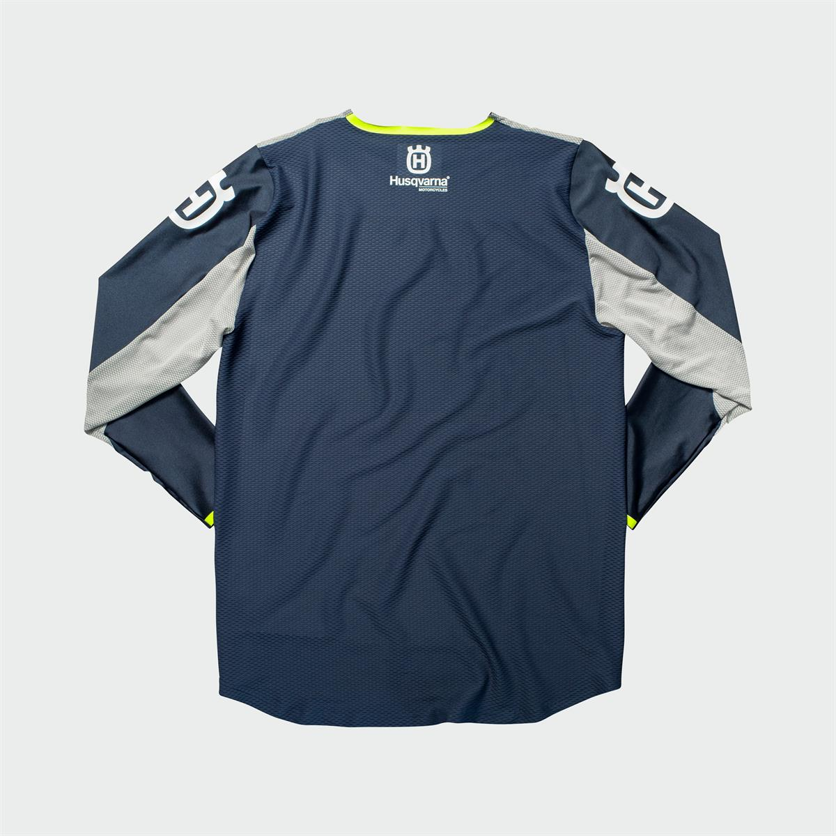 Husqvarna Functional Clothing - RAILED SHIRT BLUE back