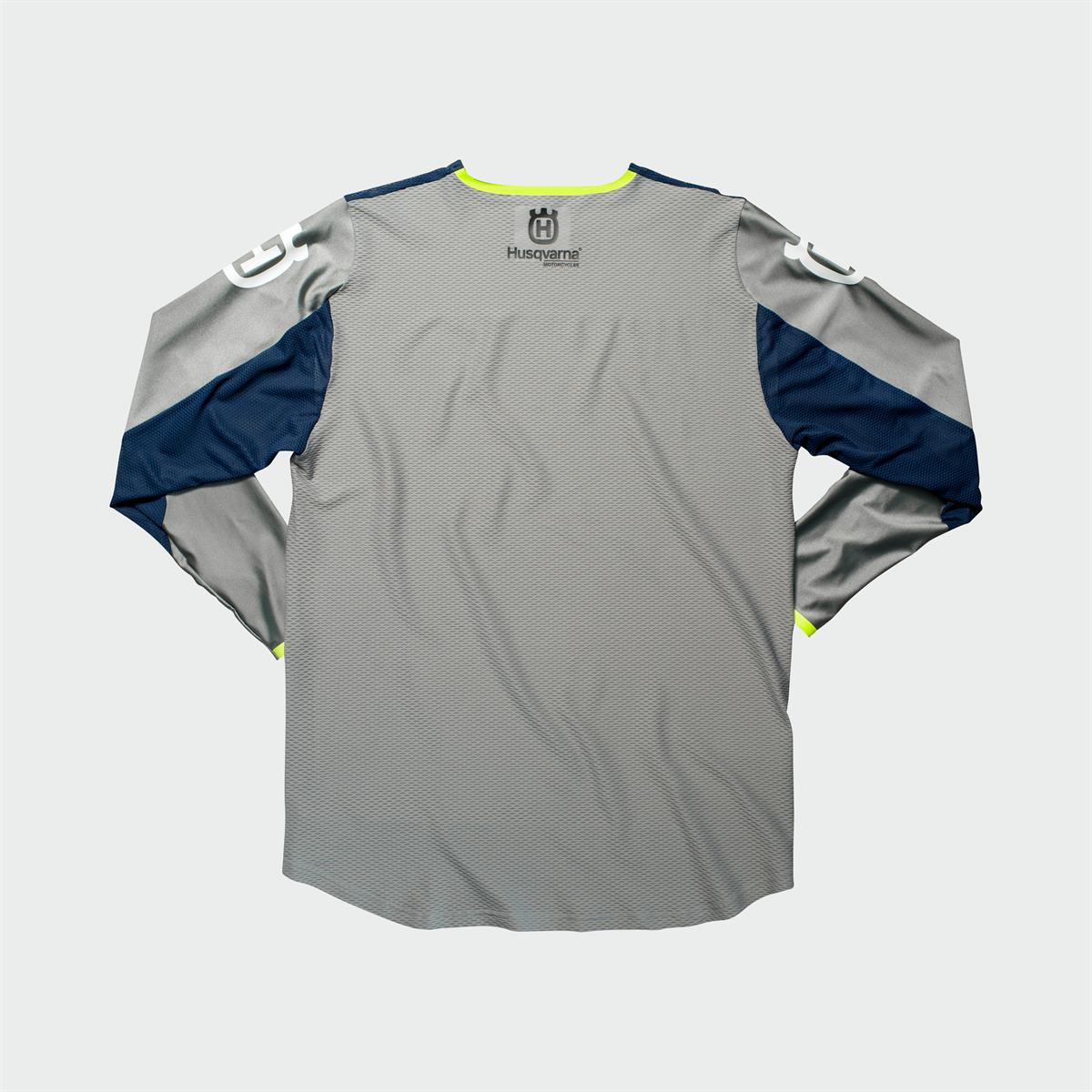 Husqvarna Functional Clothing - RAILED SHIRT GREY - back