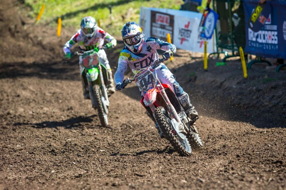Ken Roczen led Tomac early in both motos en route to second overall (2-2). - Rich Shepard