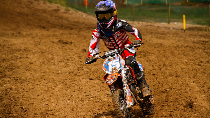 Max Miller at 2013 FIM World Junior Motocross Championship in Jinin Czech Republic