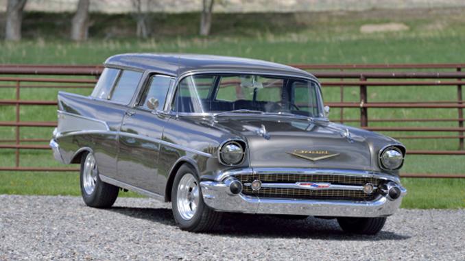 Mecum Auction - Denver - 1957 Chevrolet Nomad Fuel-Injected 350 CI Automatic (Lot F106)