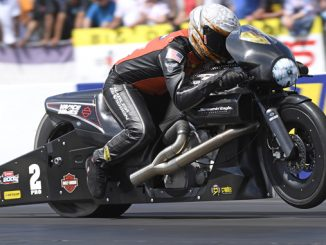 HRA Pro Stock Motorcycle Andrew Hines - action