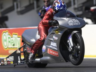 NHRA Pro Stock Motorcycle Matt Smith - action