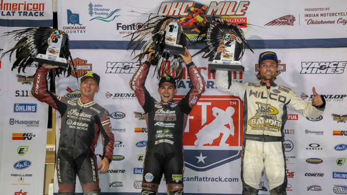 Indian Motorcycle's Scout FTR750 Sweeps Top Eight at Oklahoma City Mile