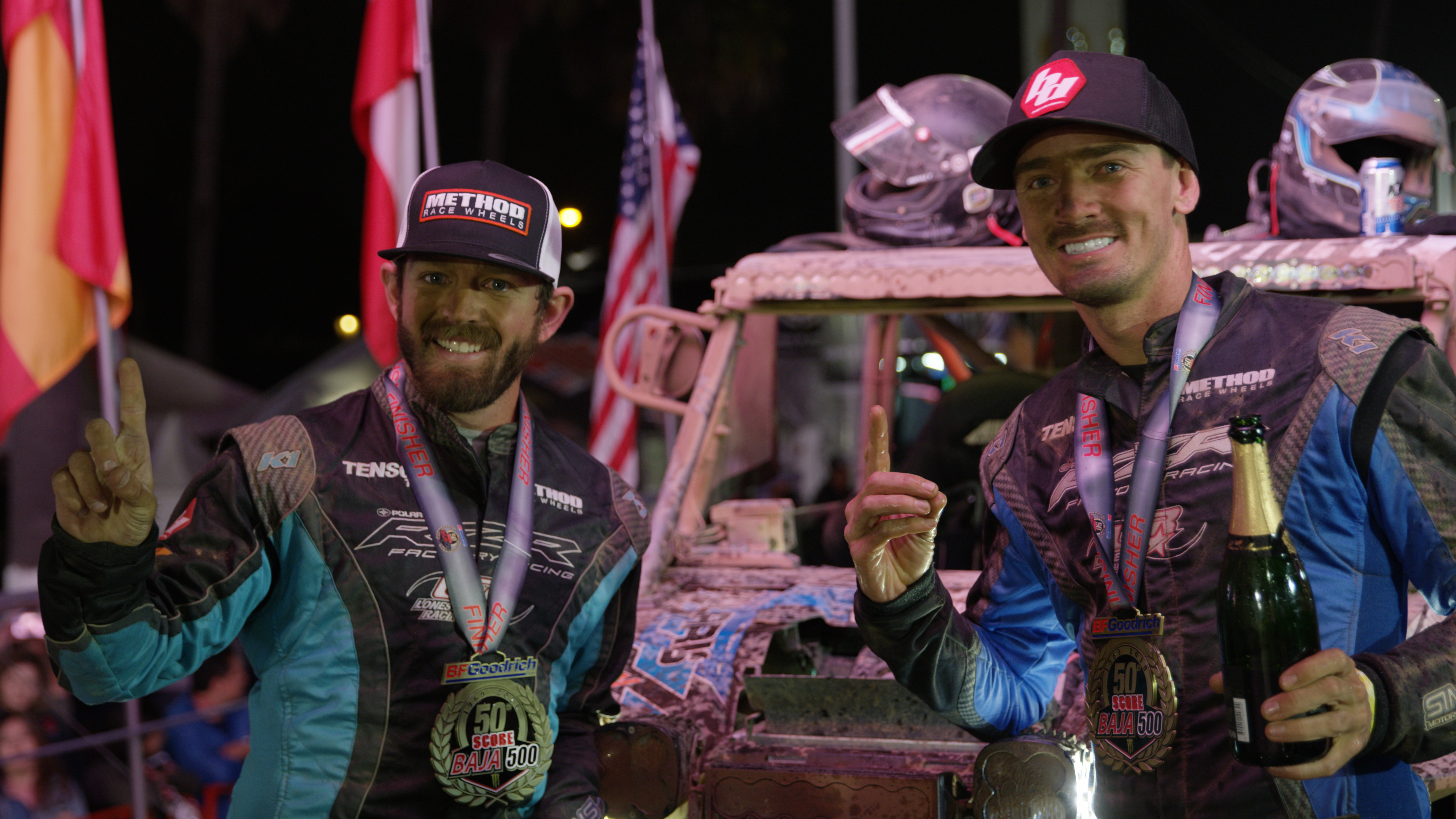 Polaris RZR Factory Racing 2018 Baja 500 - Brandon Sims Podium