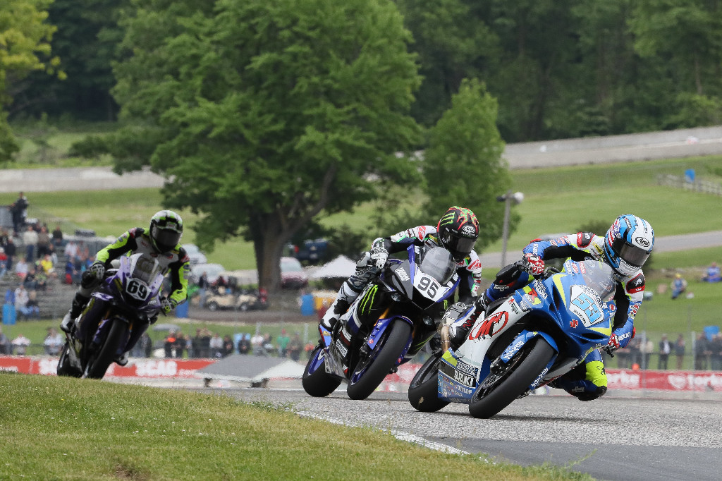 Valentin Debise (53) won his first race of the seaon at Road America on Saturday, topping JD Beach (95) and Hayden Gillim (69).|Photo by Brian J. Nelson