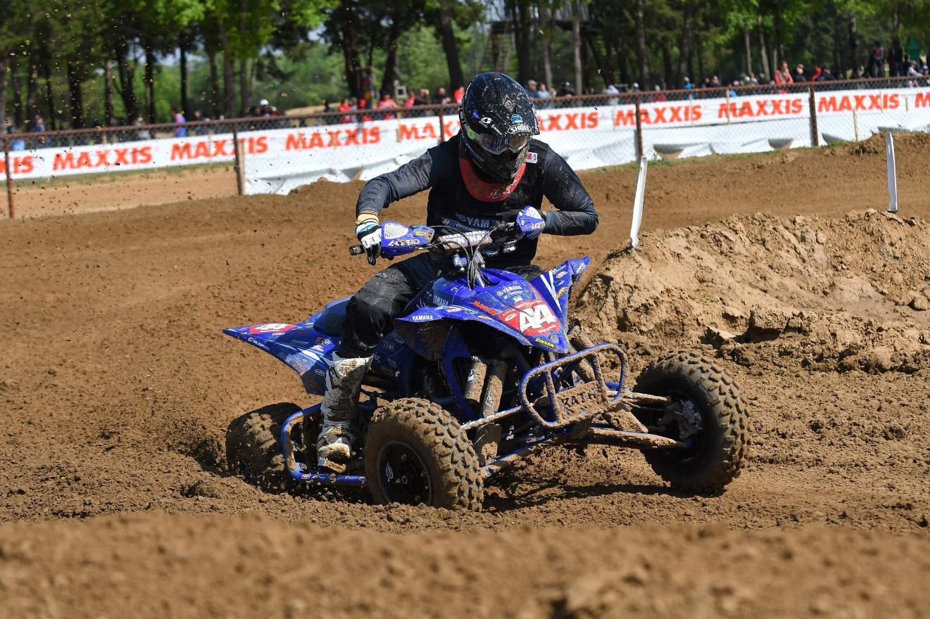 Yamaha factory-supported bLU cRU racer and five-time AMA Pro ATV MX champion Chad Wienen