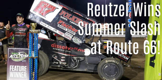 Aaron Reutzel wins Summer Slash at Route 66