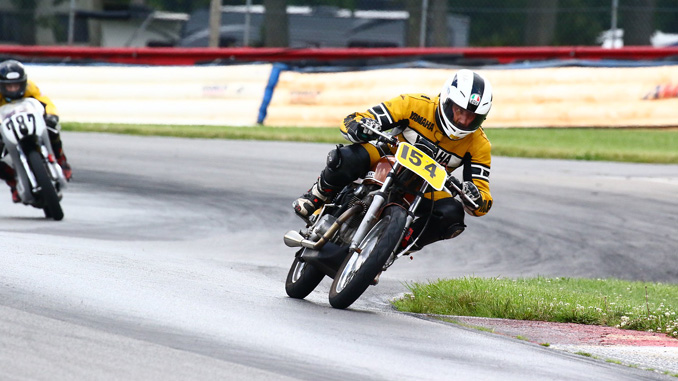 Roadracing World Action Fund to provide soft barriers - photo by Joe Hansen of road racing at 2017 AMA Vintage Motorcycle Days