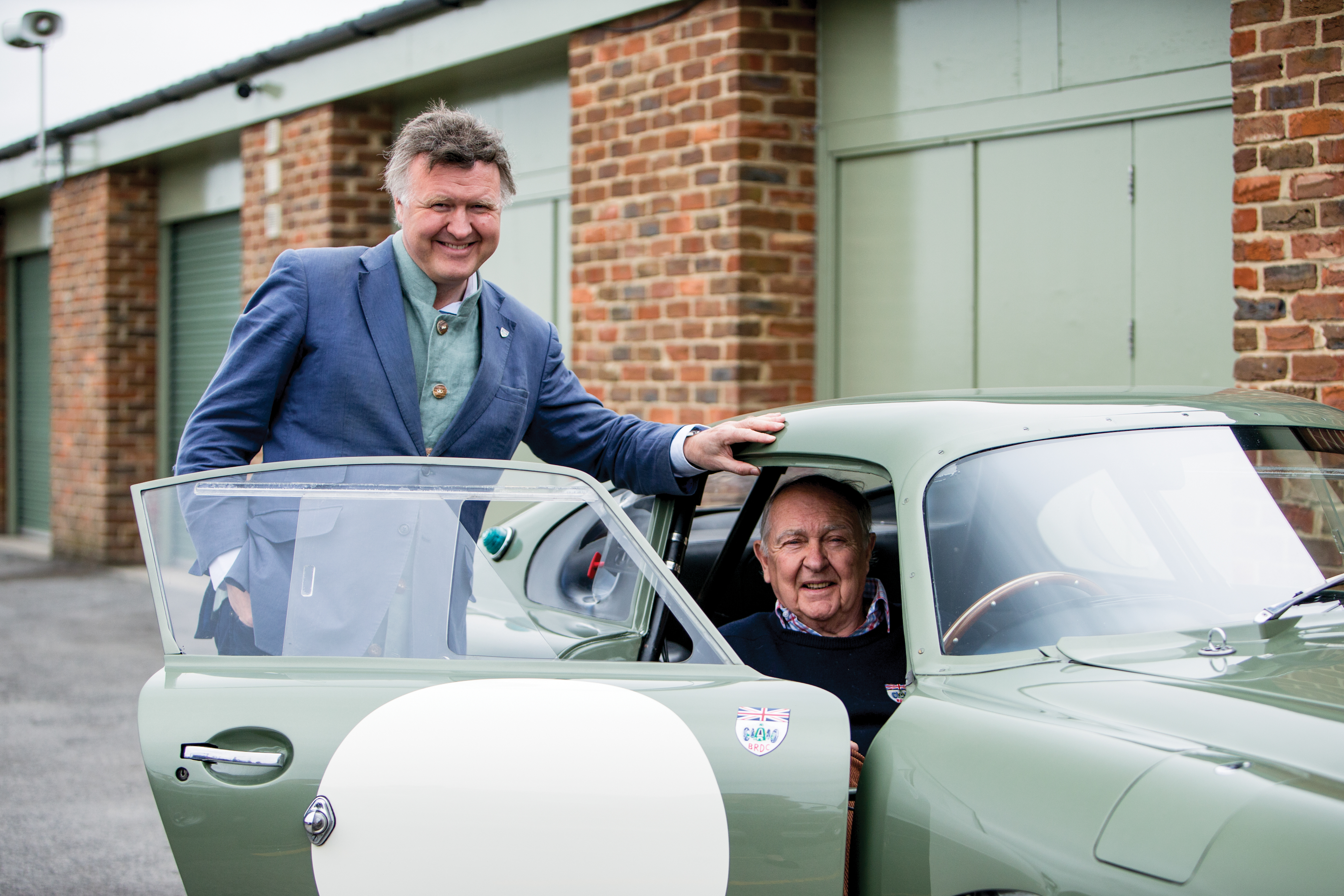 Current DP215 owners and vintage racers Nigel (left) and Neil (right) Corner with their beloved DP215 (Credit – Simon Clay © 2018 Courtesy of RM Sotheby's).