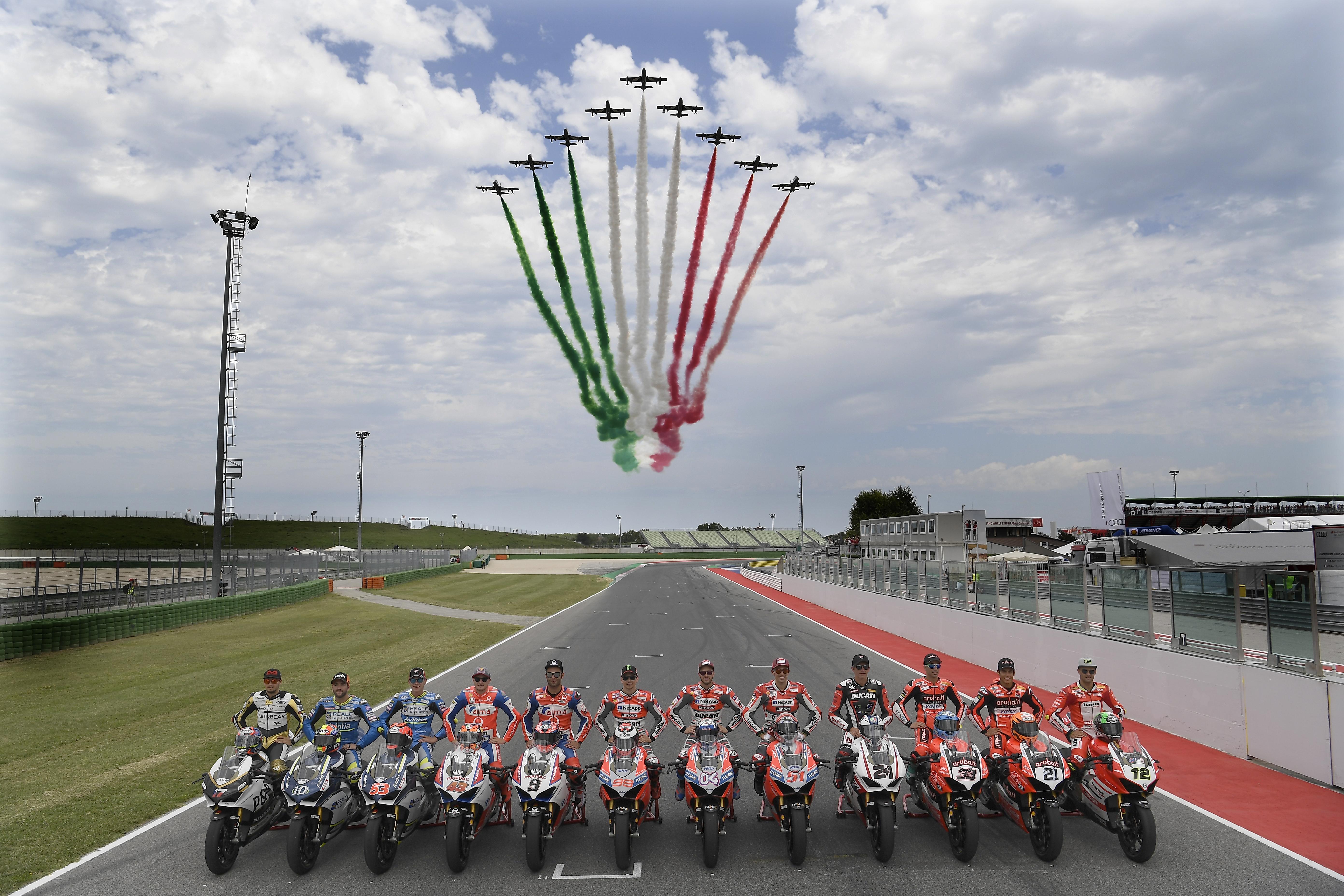 World Ducati Week 2018 Race of Champions, Frecce Tricolori