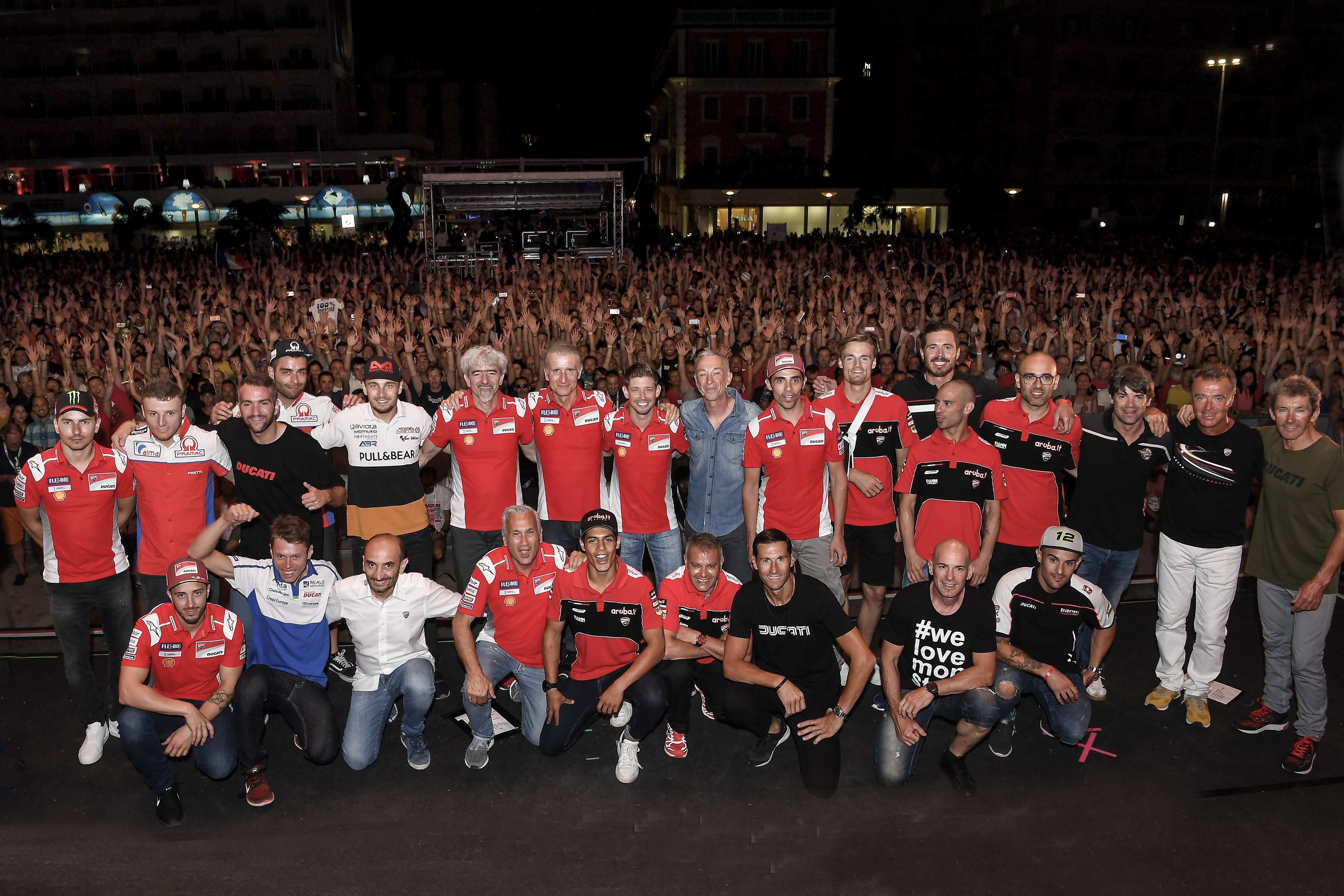 World Ducati Week 2018 Sound of Passion Night, Ducati Riders
