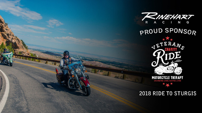 Rinehart Racing signs on as official sponsor of the 2018 Veterans Charity Ride to Sturgis