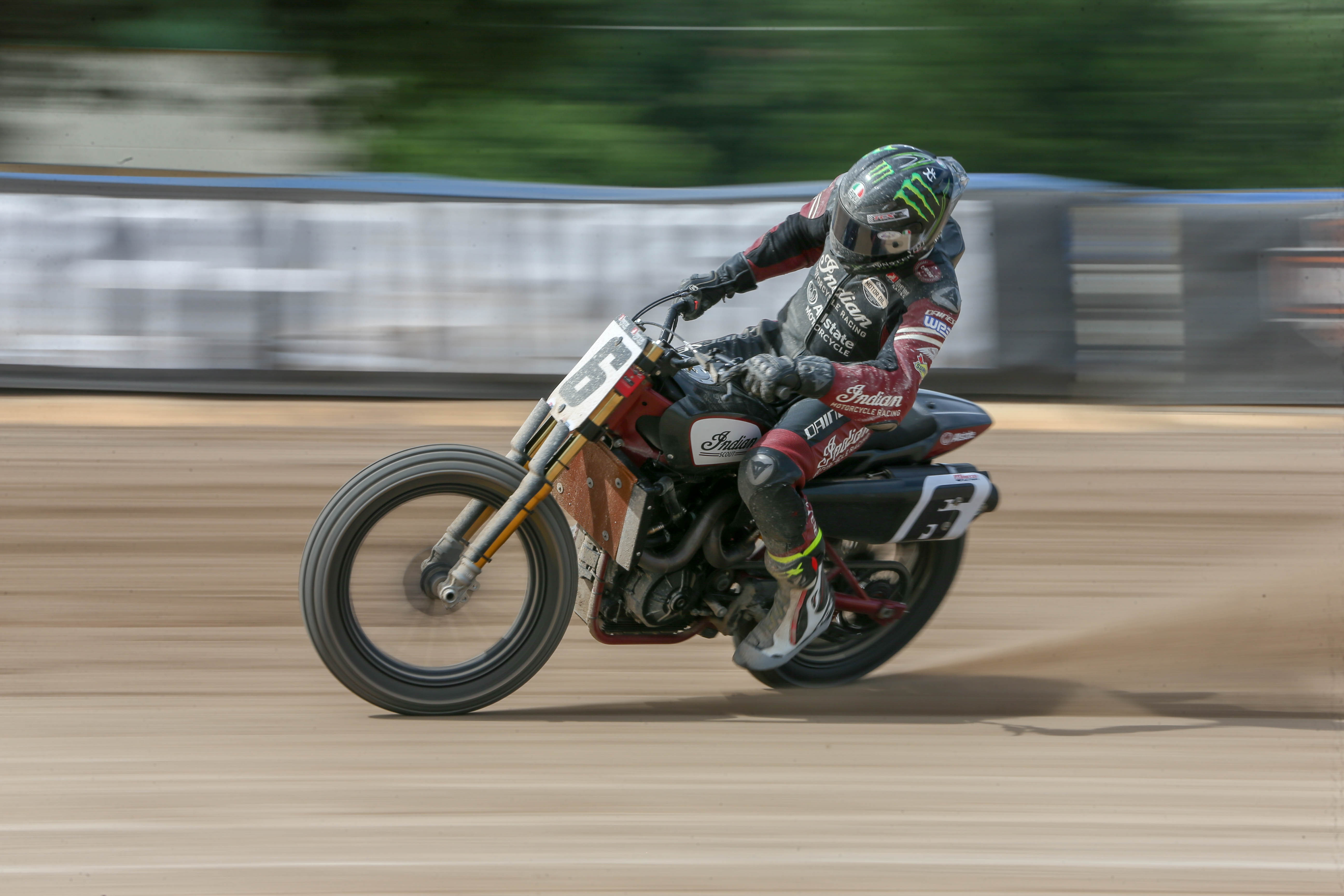 Baker in action - and in beautiful form - earlier this year at the Oklahoma City Mile