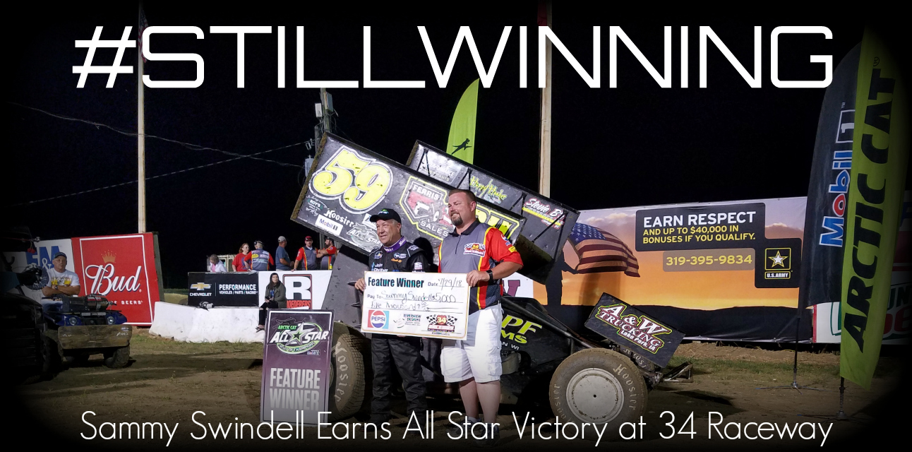 Sammy Swindell beats Eliason and Macedo at 34 Raceway for 27th career All Star victory