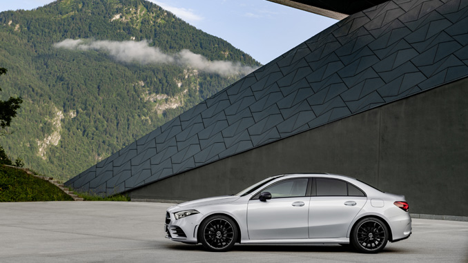 Th all new mercedes benz a class sedan motor sports newswire for Compact mercedes benz