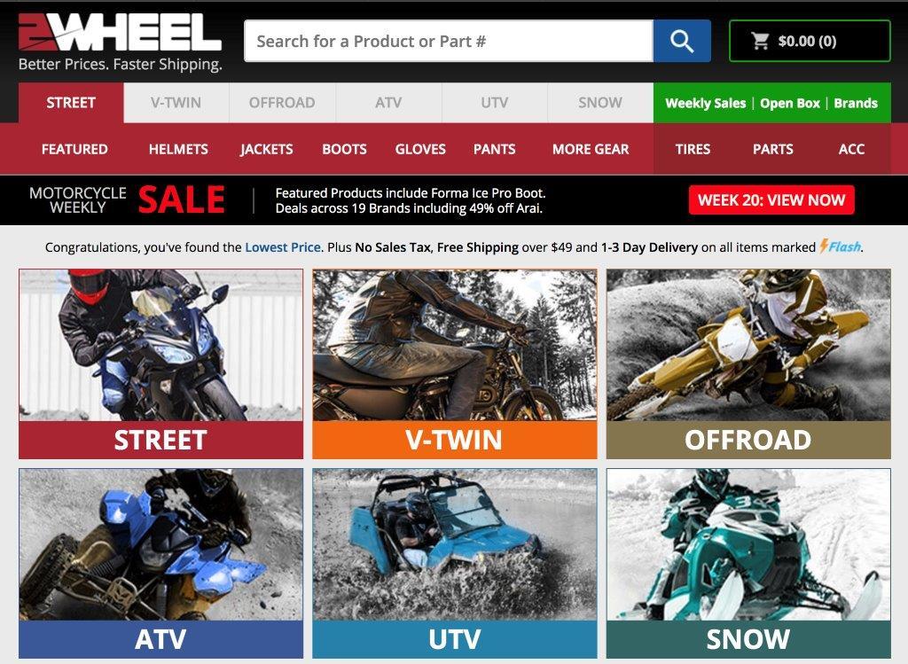 2Wheel website screenshot