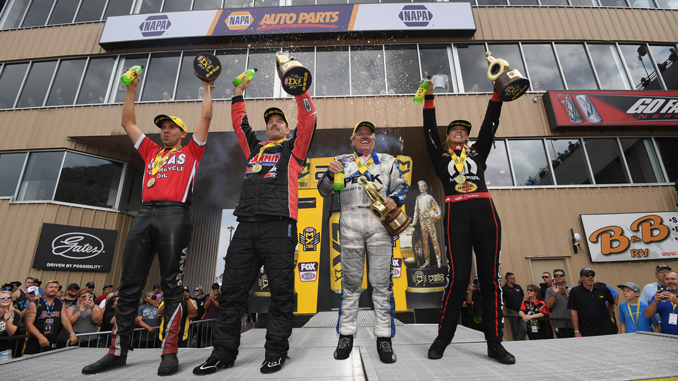 Dodge Mile-High NHRA Nationals Winners Circle Denver