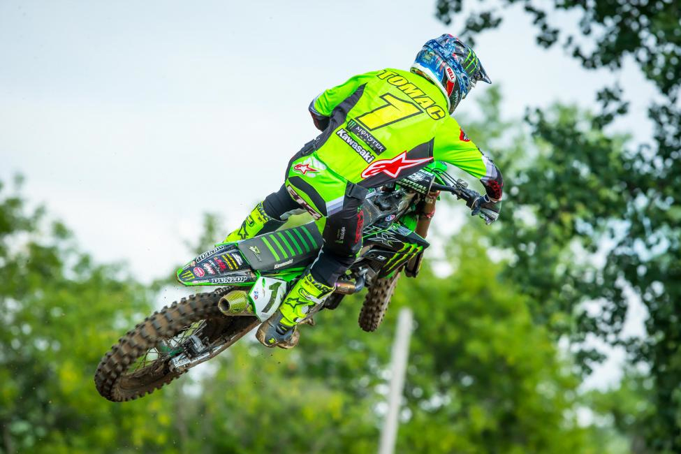 Eli Tomac captured his sixth overall (1-1) of the season and took possession of the red plate