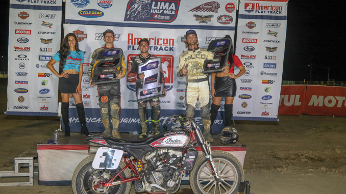 Indian Motorcycle Racing's Scout FTR750 sweeps Lima Half-Mile podium