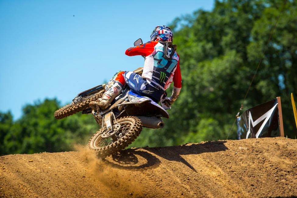 Justin Barcia's riding was impressive all day as he netted 4-2 moto scores for third overall - RedBud