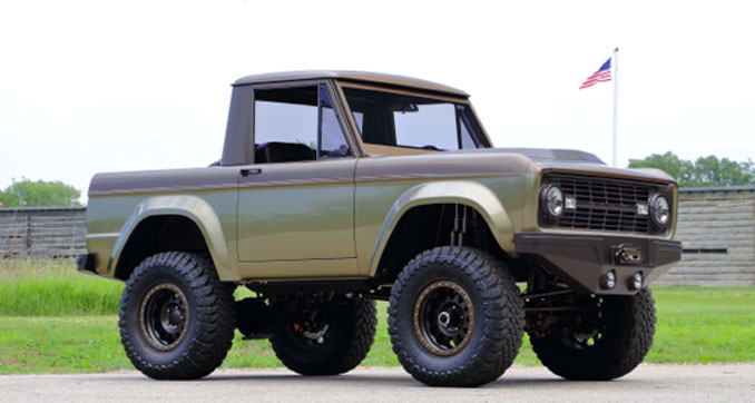 Mecum Auctions Harrisburg - 1966 Ford Bronco Custom Build Featured in Truck Trend (Lot S88)