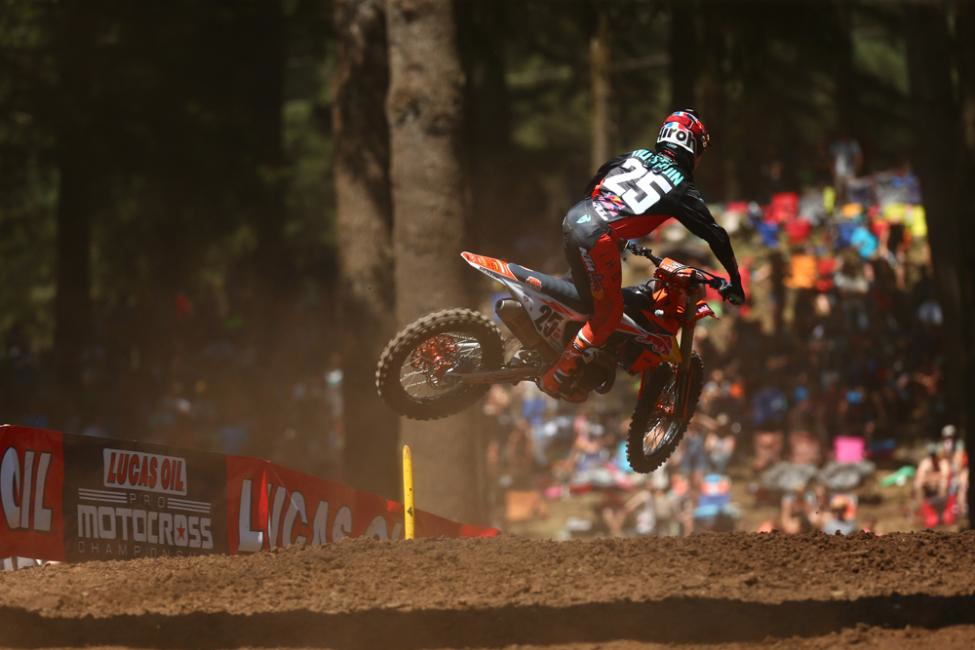 Musquin rounded out the overall podium in third. - Washougal National