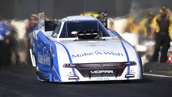 NHRA Funny Car Tommy Johnson Jr - action