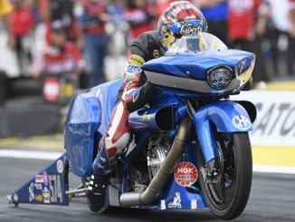 NHRA Pro Stock Motorcycle Reed Cory Action