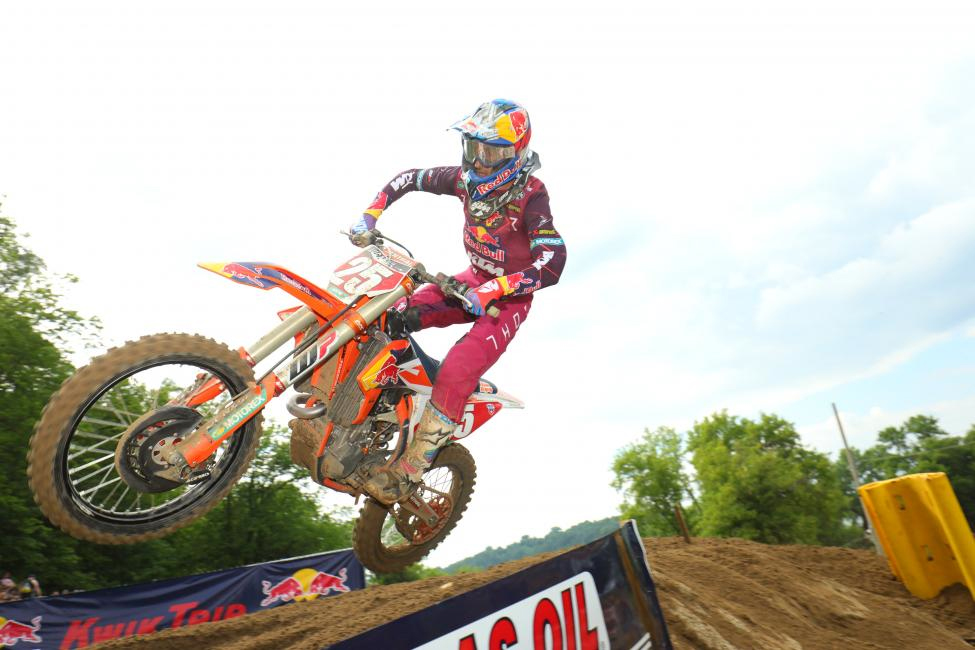 Spring Creek - Marvin Musquin was third overall on the day (4-2)