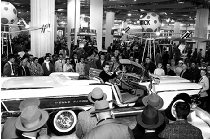 "The Buick ""Wells Fargo"" Convertible at the 1958 Chicago Auto Show (Credit – Courtesy of the owner)"